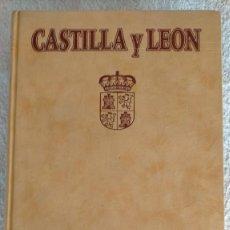 Libros de segunda mano: CASTILLA Y LEÓN HISTORIA CULTUR GASTRONOMIA TURISMO GEOGRAFIA LITERA CAJA ESPAÑA CUBIERTA TERCIOPELO. Lote 251835600