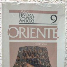 Libros de segunda mano: HISTORIA DEL MUNDO ANTIGUA ORIENTE LOS FENICIOS NUMERO 9 24 X 17 X 0,5. Lote 252057465