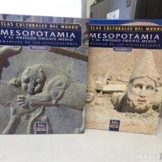 Libros de segunda mano: ATLAS CULTURALES DEL MUNDO MESOPOTAMIA VOLUMEN 1 Y 2. Lote 252334675
