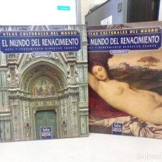 Libros de segunda mano: ATLAS CULTURALES DEL MUNDO EL DEL MUNDO RENACIMIENTO VOLUMEN 1 Y 2. Lote 252338840