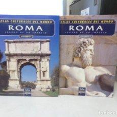 Libros de segunda mano: ATLAS CULTURALES DEL MUNDO ROMA VOLUMEN 1 Y 2. Lote 252341795