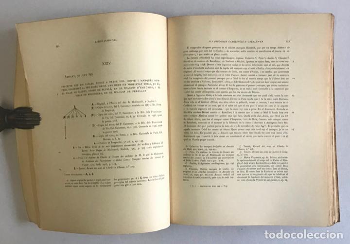 Libros de segunda mano: CATALUNYA CAROLINGIA. VOLUM II. ELS DIPLOMES CAROLINGIS A CATALUNYA. PRIMERA PART I SEGONA PART. - Foto 8 - 253251325