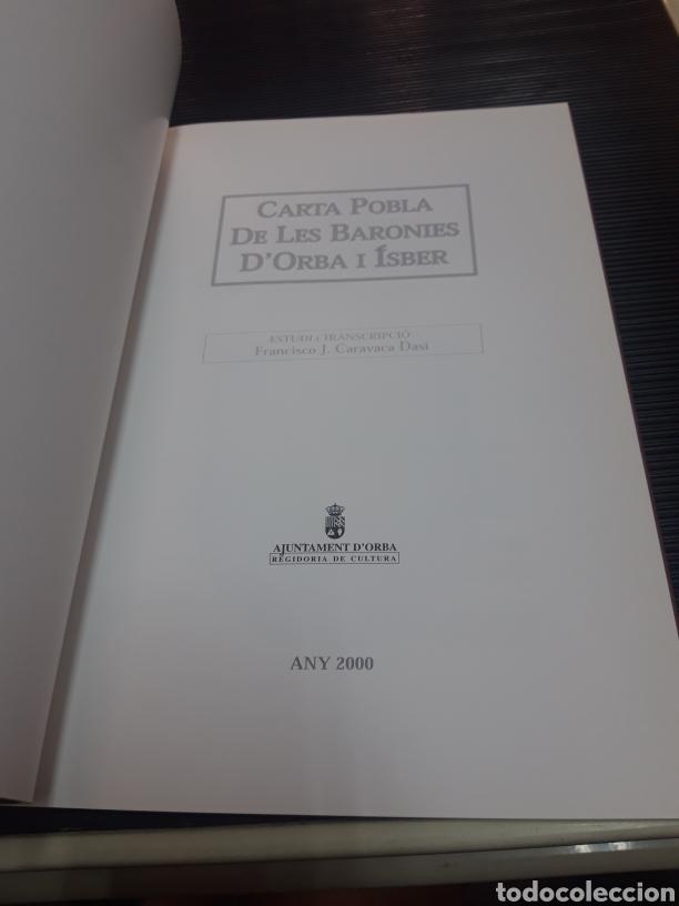 Libros de segunda mano: Carta pobla de les baronies DOrba i Ísber - Foto 3 - 254896935