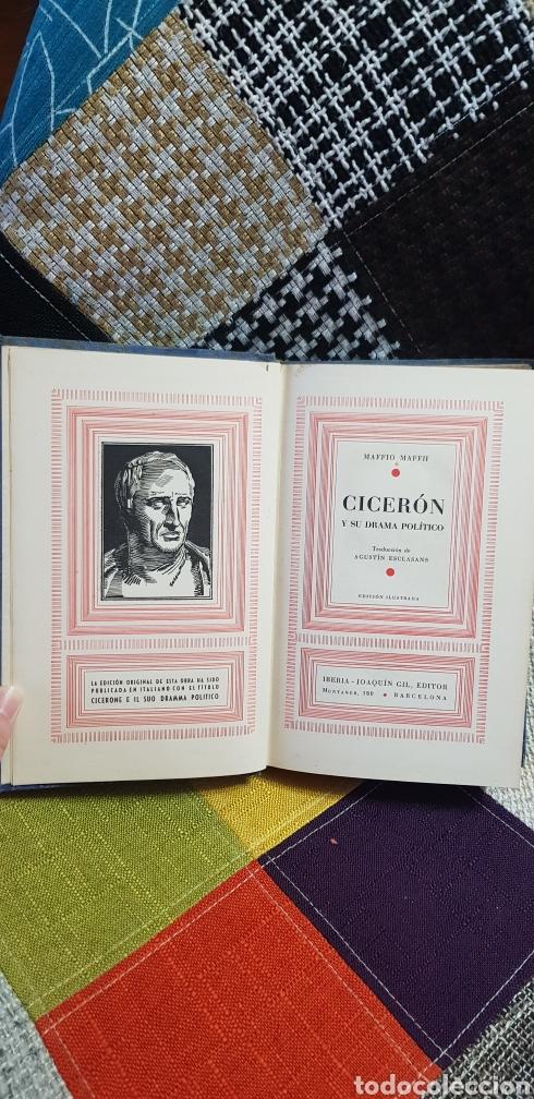 Libros de segunda mano: Libro CICERÓN Y SU DRAMA POLÍTICO. PRIMERA EDICIÓN, 1942 - Foto 8 - 259327015