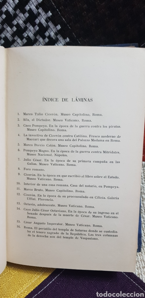Libros de segunda mano: Libro CICERÓN Y SU DRAMA POLÍTICO. PRIMERA EDICIÓN, 1942 - Foto 11 - 259327015
