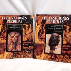 Libros de segunda mano: CIVILIZACIONES PERDIDAS. RAMSÉS SEGUNDO FARAÓN DE EGIPTO 2 TOMOS. Lote 262411935