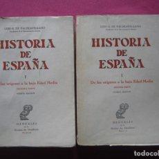 Libros de segunda mano: HISTORIA DE ESPAÑA. DE LOS ORIGENES A LA BAJA EDAD MEDIA. VALDEAVELLANO. Lote 97834499