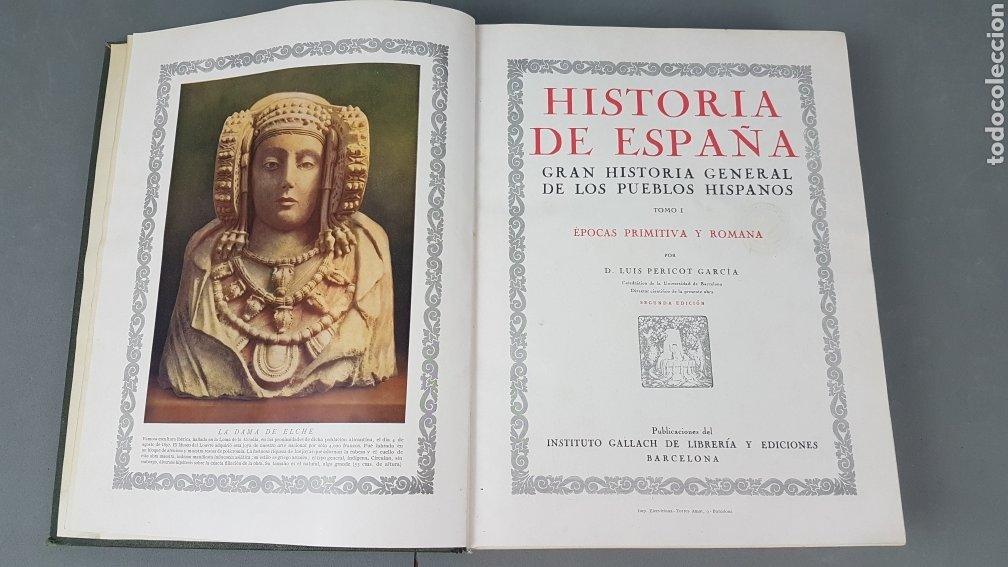 Libros de segunda mano: HISTORIA DE ESPAÑA.Gran Historia General de los Pueblos Hispanos.EDICIÓN COMPLETA. INSTITUTO GALLACH - Foto 5 - 264068975