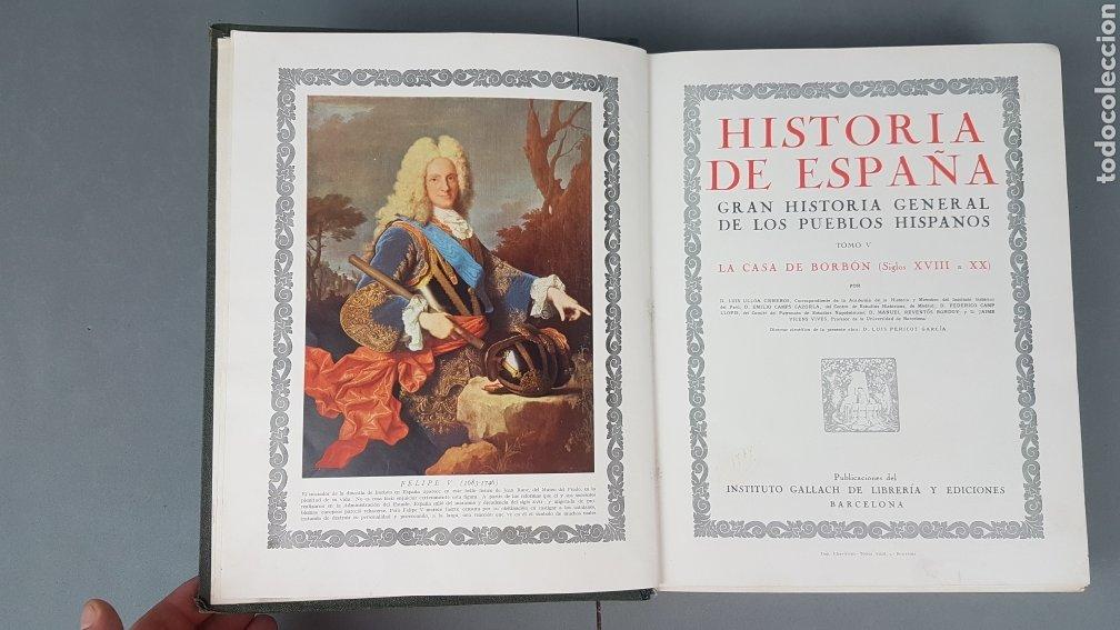 Libros de segunda mano: HISTORIA DE ESPAÑA.Gran Historia General de los Pueblos Hispanos.EDICIÓN COMPLETA. INSTITUTO GALLACH - Foto 26 - 264068975