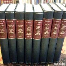 Libros de segunda mano: 1984 - GIBBON - HISTORIA DE LA DECADENCIA Y RUINA DEL IMPERIO ROMANO. 8 TOMOS (COMPLETA), TURNER. Lote 267586554