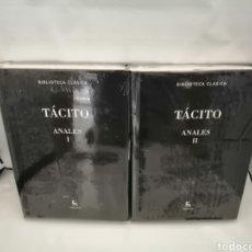 Libros de segunda mano: TÁCITO: ANALES VOLS. I Y II (SIN RECORRIDO COMERCIAL, COMO NUEVO, GREDOS). Lote 269031993