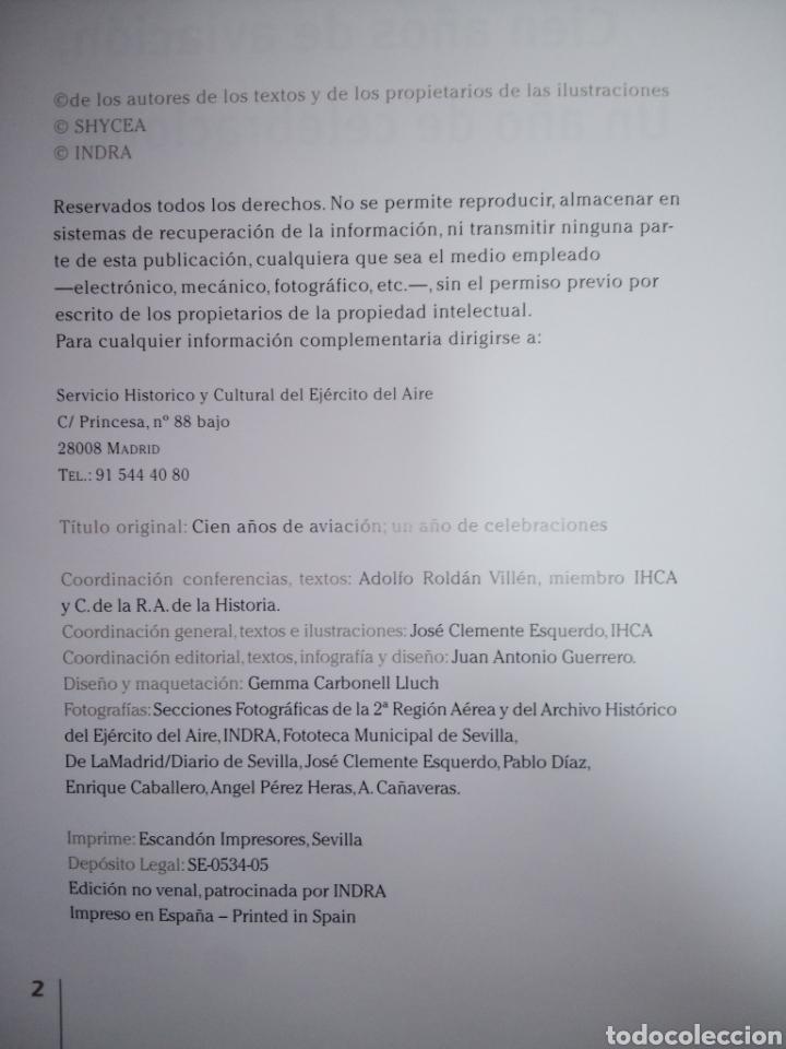 Libros de segunda mano: Libro CIEN AÑOS DE AVIACION - Foto 4 - 269350703