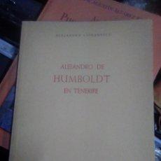 Libros de segunda mano: ALEJANDRO DE HUMBOLDT EN TENERIFE - CIORANESCU, ALEJANDRO. 978. Lote 269741703