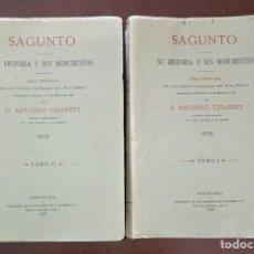 Libros de segunda mano: SAGUNTO, SU HISTORIA Y SUS MONUMENTOS, EDICIÓN DE 1974.. Lote 270397788