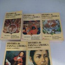 Libros de segunda mano: HISTORIA DE ESPAÑA Y AMÉRICA SOCIAL Y ECONÓMICA. Lote 271991668