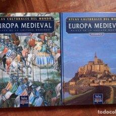 Libros de segunda mano: ATLAS CULTURALES DEL MUNDO EUROPA MEDIEVAL VOLUMEN I Y II. Lote 274331628