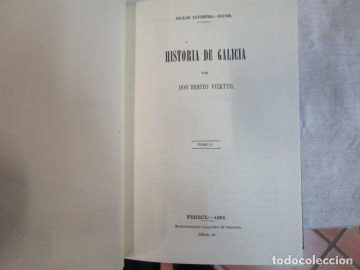 Libros de segunda mano: HISTORIA DE GALICIA - BENITO VICETTO - EDI ENCICLOPEDIA VASCA 1978 7 TOMOS COMPLETA, SIN USO + INFO - Foto 8 - 47024106