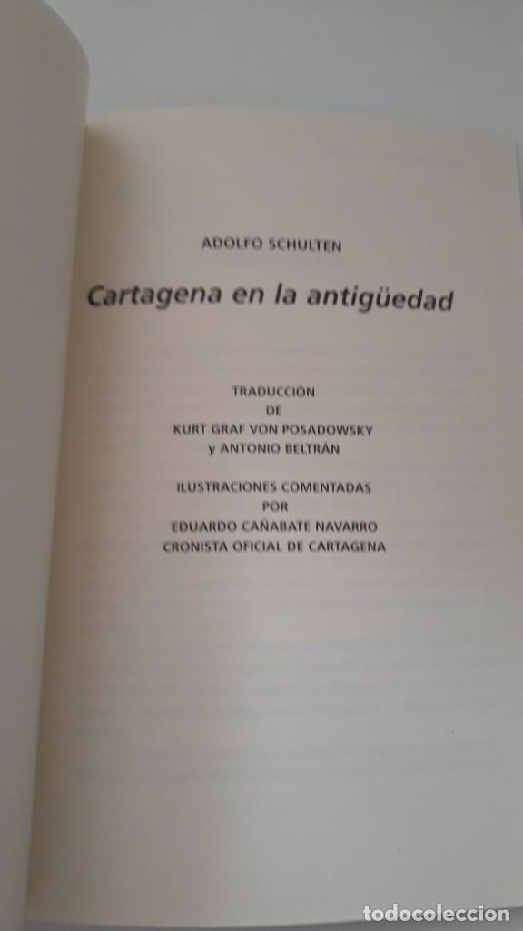 Libros de segunda mano: CARTAGENA EN LA ANTIGUEDAD. Adolfo Shulten. Editorial Áglaya. Colección Almarjal. Cartagena, 2004. - Foto 3 - 277198648