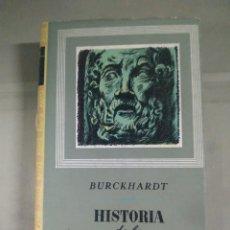 Libros de segunda mano: HISTORIA DE LA CULTURA GRIEGA IV - BURCKHARDT. Lote 278157713