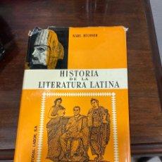 Libros de segunda mano: LIBRO HISTORIA DE LA LITERATURA LATINA. Lote 284228458