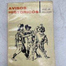 Libros de segunda mano: LIBRO AVISOS HISTÓRICOS. Lote 287403358
