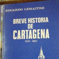 Libros de segunda mano: BREVE HISTORIA DE CARTAGENA (COLOMBIA) 1501-1901 (BOGOTÁ, 1981). Lote 288692523