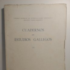 Libros de segunda mano: CUADERNOS DE ESTUDIOS GALLEGOS II. 1944. PADRE SARMIENTO. W. REINHART, J. FILGUEIRA VALVERDE, FR.. Lote 288964173