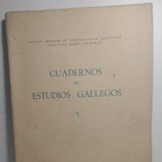 Libros de segunda mano: CUADERNOS DE ESTUDIOS GALLEGOS. X. AUGAS SANTAS. RITOS EN GALICIA. INSTITUTO PADRE SARMIENTO, 1948.. Lote 288980673
