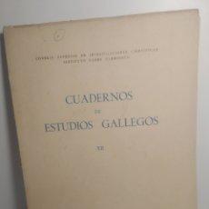 Libros de segunda mano: CUADERNOS DE ESTUDIOS GALLEGOS. XII. INSTITUTO PADRE SARMIENTO, 1949.. Lote 289017128