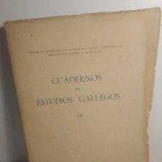 Libros de segunda mano: CUADERNOS DE ESTUDIOS GALLEGOS. VIII. INSTITUTO PADRE SARMIENTO. 1947. Lote 289019358