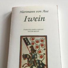 Libros de segunda mano: IWEIN. TEXTOS MEDIEVALES. HARTMANN VON HEVE. PPU. Lote 289300033