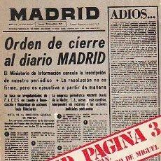 Libros de segunda mano: ANTONIO FONTAN, FRANCISCO DE BURGUERA Y AMANDO DE MIGUEL: MADRID PAGINA 3. EL DIARIO MADRID.... Lote 23694985