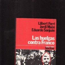 Libros de segunda mano: LAS HUELGAS CONTRA FRANCO / POR: LLIBERT FERRI , JORDI MUIXI Y EDUARDO SANJUAN - EDITA: PLANETA. Lote 27271144