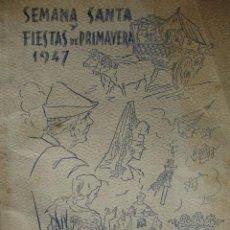 Libros de segunda mano: MURCIA,SEMANA SANTA Y FIESTAS PRIMAVERA 1947.FOLIO.FOTOS .LAMINAS COLOR.ANUNCIOS. Lote 27388760