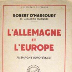 Libros de segunda mano: POSTGUERRA MUNDIAL. ALEMANIA Y EUROPA. 1960. Lote 27590339