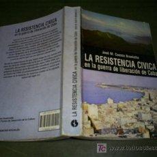 Libros de segunda mano: LA RESISTENCIA CÍVICA EN LA GUERRA DE LIBERACIÓN DE CUBA JOSÉ M. CUESTA BRANIELLA RM45029. Lote 20104146