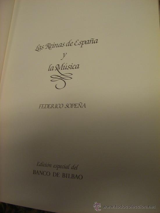 Libros de segunda mano: Libro -Las Reinas de España y la música-, año 1984. - Foto 2 - 22242160