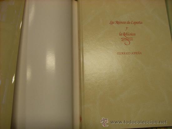 Libros de segunda mano: Libro -Las Reinas de España y la música-, año 1984. - Foto 6 - 22242160