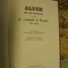 Libros de segunda mano: LIBRO -ÁLBUM DE UN SOLDADO-, AÑO 1985, REPRODUCIENDO OTRO DE 1823.. Lote 22248603