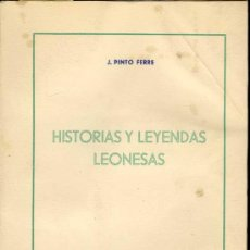 Libros de segunda mano: 1957: HISTORIAS Y LEYENDAS LEONESAS. Lote 26357218