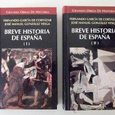 Libros de segunda mano: BREVE HISTORIA DE ESPAÑA (2 TOMOS). GARCÍA DE CORTÁZAR / GONZÁLEZ VESGA. ALTAYA. 1996. Lote 28145143