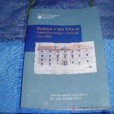 Libros de segunda mano: BURGOS Y SUS VILLAS. ARQUITECTURA Y PAISAJE 1750-1800. Lote 28215981