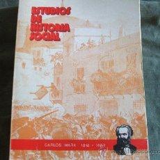 Libros de segunda mano: ESTUDIOS DE HISTORIA SOCIAL KARL MARX. Lote 30142640