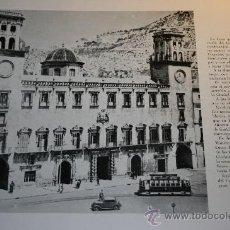 Libros de segunda mano: CASAS CONSISTORIALES, 1963. HOJA AYUNTAMIENTOS DE ALICANTE Y ASPE.. Lote 30671846