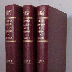 Libros de segunda mano: CRONICA RAZONADA DE LAS GUERRAS DE BOLIVAR - 3 TOMOS - CON DEDICATORIA AUTOGRAFIADA DEL AUTOR. Lote 30861858