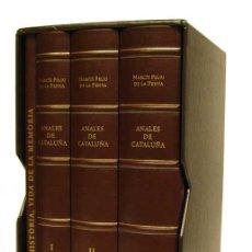 Libros de segunda mano: ANALES DE CATALUÑA. NARCÍS FELIU DE LA PENYA. COPIA FACSÍMIL NUMERADA (Nº 106, DE 850 EJEMPLARES).. Lote 30872616