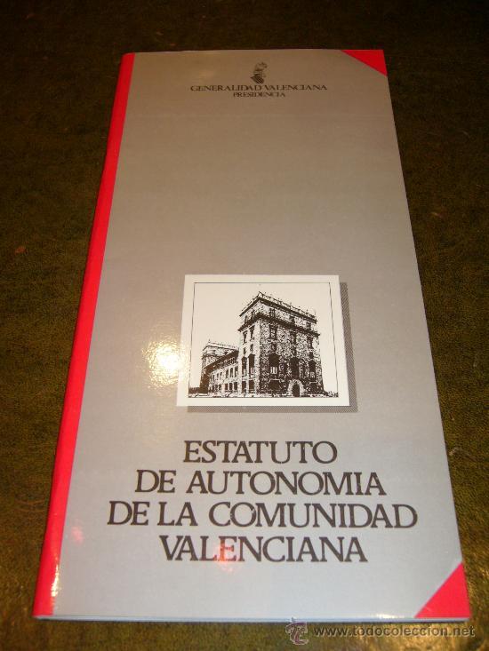 Libros de segunda mano: AUTONOMIA **ESTATUTO DE AUTONOMIA COMUNIDAD VALENCIANA** - Foto 2 - 32926766