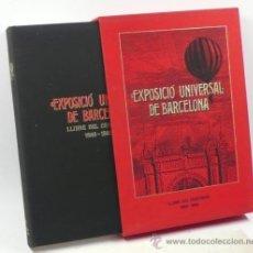 Libros de segunda mano: EXPOSICIÓ UNIVERSAL DE BARCELONA, LLIBRE DEL CENTENARI 1888-1889, 36X26 CM. Lote 34319339