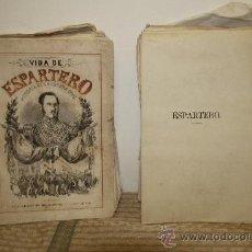 Libros de segunda mano: 1785- BONITO LIBRO ESPARTERO SU VIDA MILITAR Y POLITICA. D.M.H. EDIT ESPASA S/F. 2 TOMOS . Lote 34320263