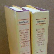 Libros de segunda mano: LA CULTURA CATALANA: ENTRE LA CLANDESTINITAT I LA REPRESA PÚBLICA (1939-1951). SAMSÓ, JOAN.. Lote 35407950